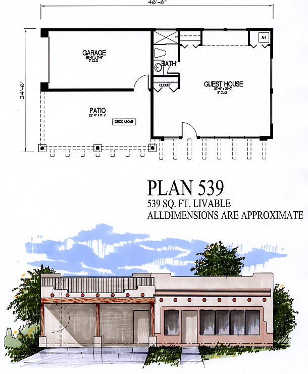 Guest homes for 539 plan
