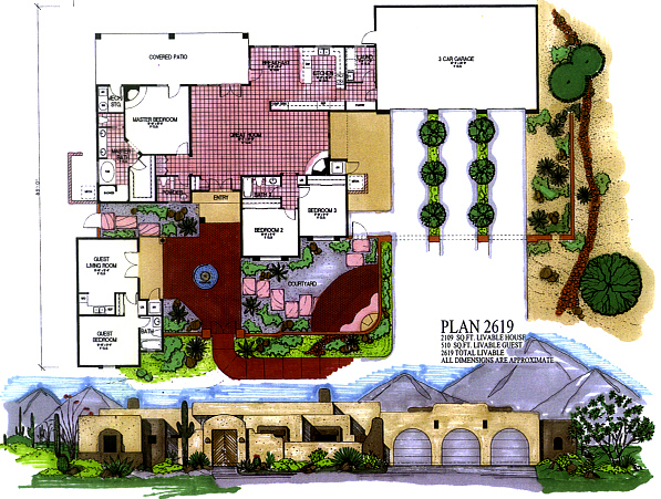 Architectural designs arizona custom house plans and for Custom home floor plans az